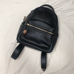 NWT Coach Pebble Black Campus Backpack 23